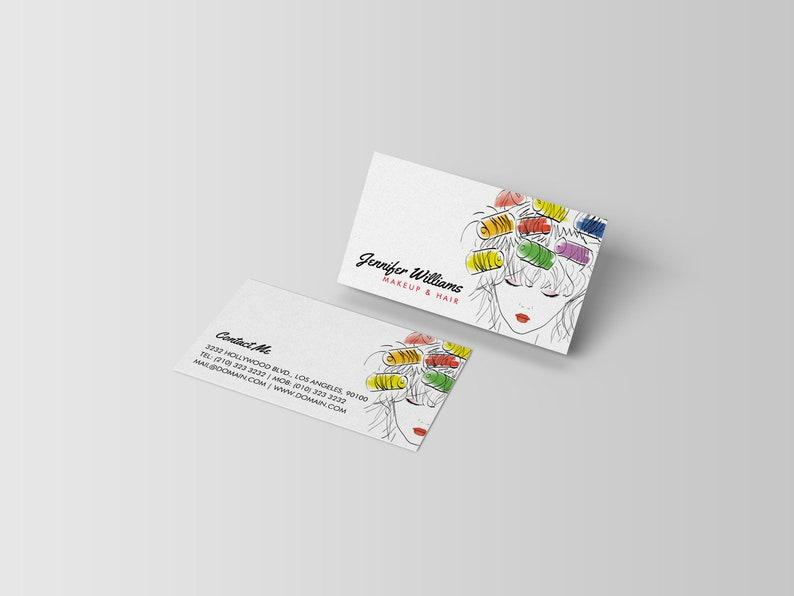 Coiffure Styliste Modele De Carte Visite Cartes