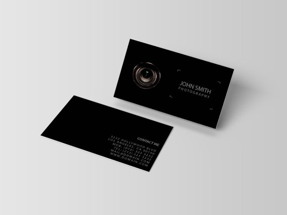 Photography business card template photographer visiting etsy image 0 fbccfo Images