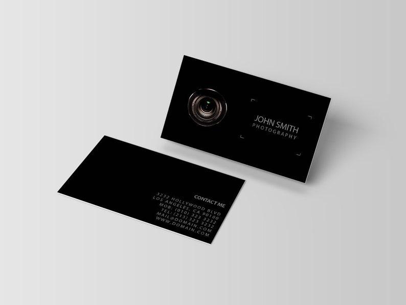 Photographie Modele De Carte Visite Cartes