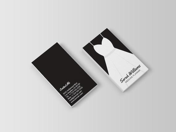 Hochzeit Planer Visitenkarte Vorlage Kleid Event Planer Visitenkarten Schwarz Und Weiß Visitenkarte Hochzeit Design Digitaler Download