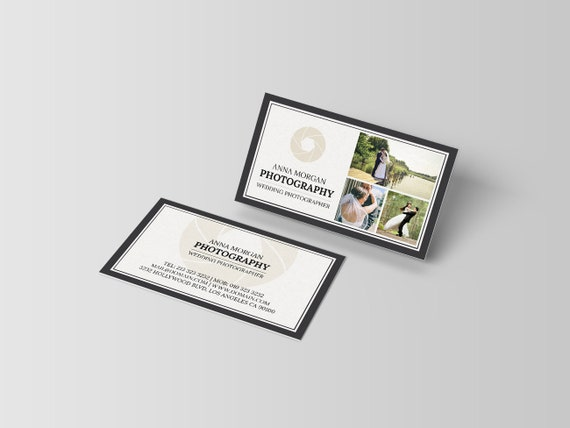 Elegante Fotograf Visitenkarte Vorlage Fotografie Visitenkarten Design Digitale Download Photoshop Vorlagen