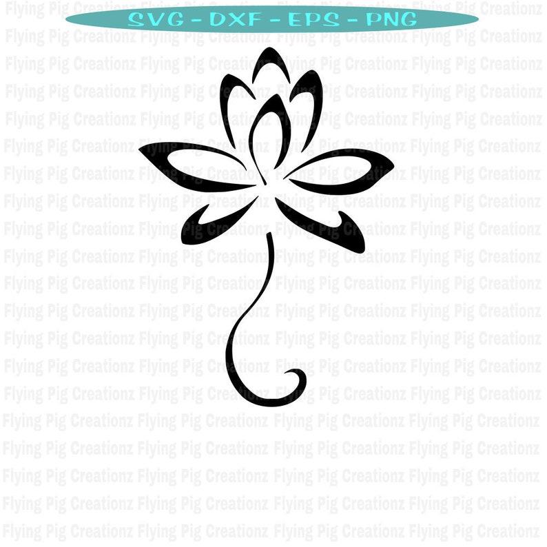 Lotus Svg Lotus Flower Svg Lotus Flower With Tail Svg Yoga Etsy