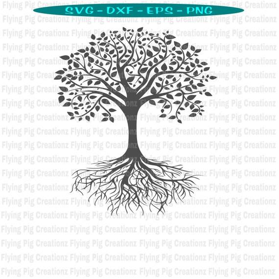 Baum Des Lebens Svg Wurzeln Blatter Symbol Yoga Meditation Etsy
