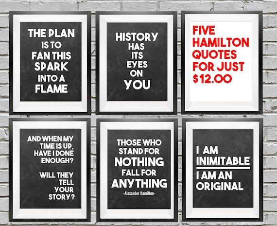 Alexander Hamilton Quotes | Hamilton Quotes Hamilton The Musical Alexander Hamilton Etsy