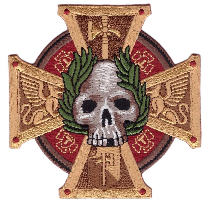 96831219a92 Inquisition 40k Sigmar Cross Skull Patch Iron On