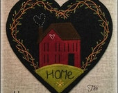 Home Wool Applique Heart Shaped Penny Rug Table Mat PATTERN