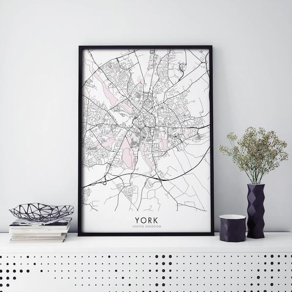 UK Wall Art Poster City Map Wall Decor A3 A2 A1 LONDON Map Print