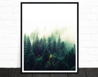 Forest Print, Nature Prints, Forest Photography, Forest Wall Art, Woodland Prints, Forest Nursery Decor, Printable Art, Wilderness Poster