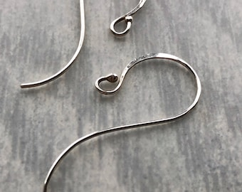 Extra Pair of Signature Ear Hooks, Replacement Ear Hooks for Existing Earrings, High Quality Handcrafted Hammered Sterling Silver Ear Wires