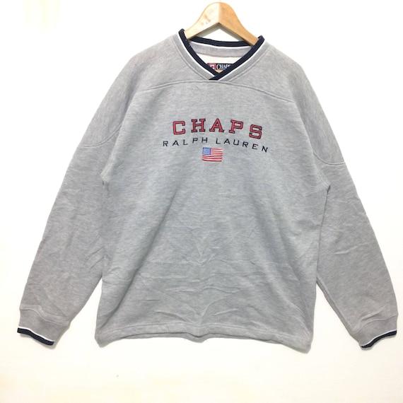 Vintage Chaps Ralph Lauren Polo Big Logo Crewneck Sweatshirt Etsy