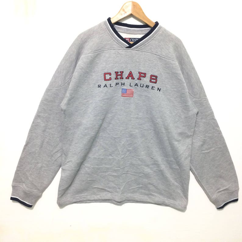 93cb7c5e53420 Vintage Chaps Ralph Lauren Polo Big Logo Crewneck Sweatshirt