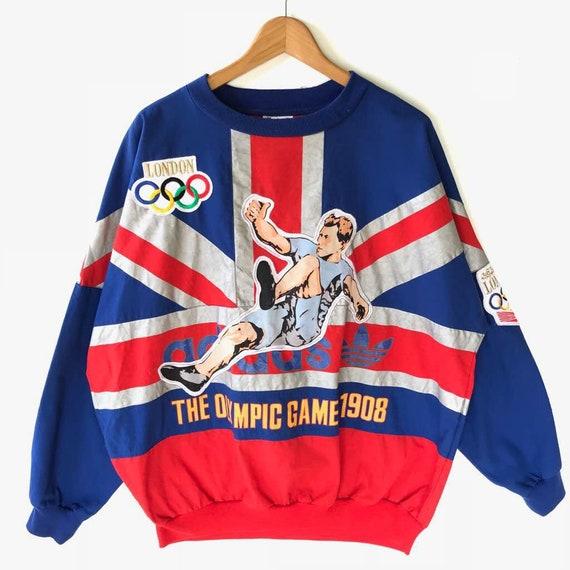 Vintage Adidas Olympic Sweatshirt Size L