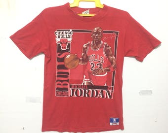 Vintage Michael Jordan Team Chicago Bulls Bio Game History no 23 USA BAsketball