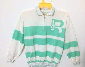 Reebok Colorblock Green Colar Stripes