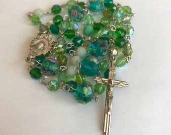 Multi-toned Green Rosary