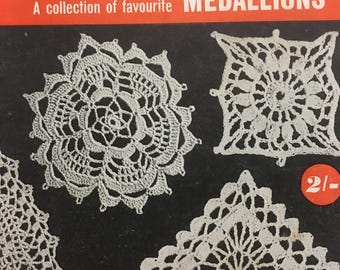 Vintage Paragon Medallions no.R1 Crochet Booklet - 14 patterns, 26 pages