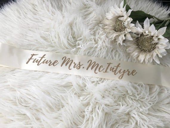 a16c63651913 Future Mme Sash ceinture de douche nuptiale mariée à   Etsy