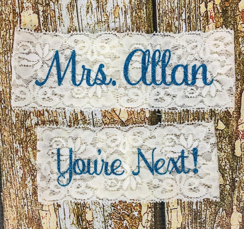 Personalized Garters Something Blue Personalized Garter image 0