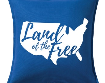 Land of the Free USA Pillow Cover