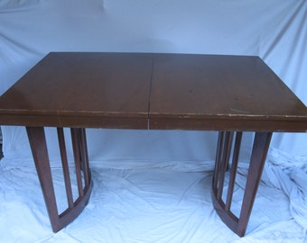 Art Deco, 1920s Mahogany Pedestal Table-Needs Restoration-Machine Age Influence