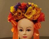Day of the dead headpiece, dia de los muertos, halloween headpiece. Floral crown