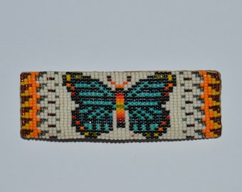 Hope Faceted Colorful Seed Bead Barrette