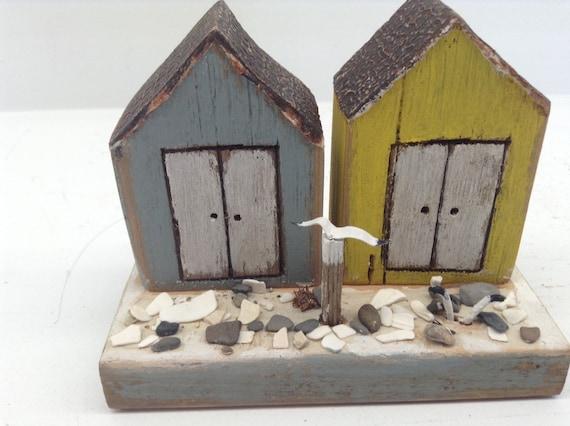 Beach Style Driftwood Art Beach Huts