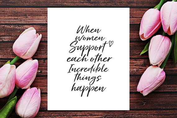 Empowering Women Empowering Women Quotes Women Supporting | Etsy