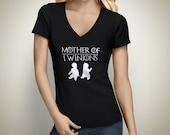 Mother of Twinions V-Neck Tshirts