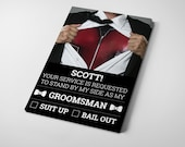 Marvel/DC Be My Groomsman/Best Man Invitation (Single)