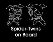 Spider-Twins on Board Car Decal