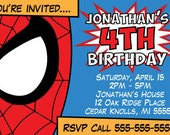 Spiderman Comic Children's Birthday Invitation (Postcard Size)