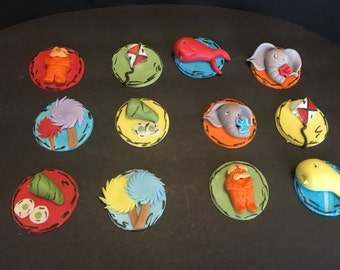 Cat in the Hat INSPIRED shower Edible Cupcake Toppers 12