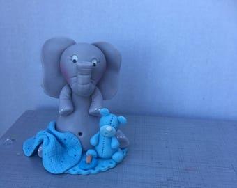 Edible Baby Elephant Cake Topper