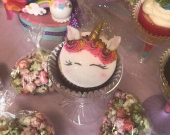 Unicorn cupcake toppers 12