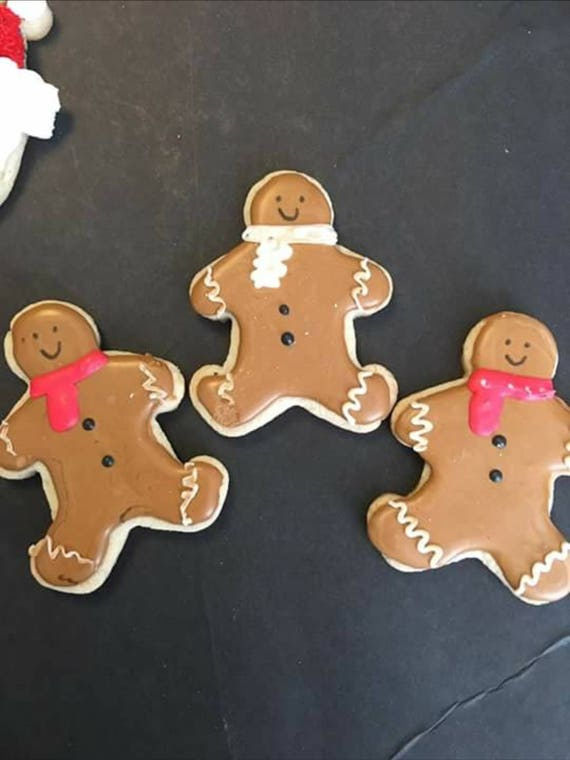 12 Christmas Gingerbread Man Sugar Cookies