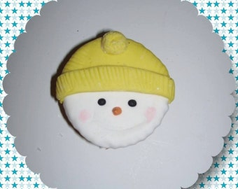 12 Snowman sugar cookies