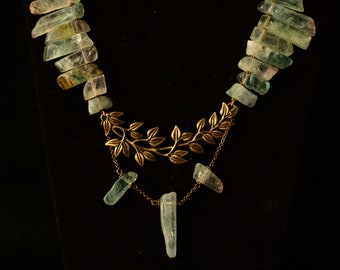 Leaf fairy fluorite necklace