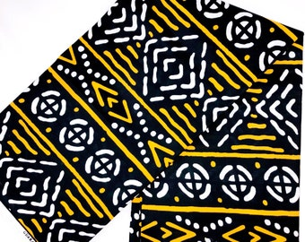 Bogalan Print Fabric, Mudcltoth Print Fabric, African Fabric by the Yard, Ankara Fabric, African Fabric Mask, African clothing for women