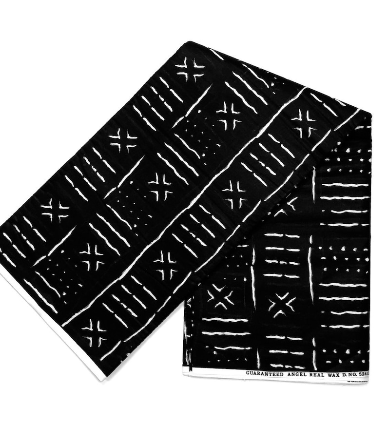 Mudcloth Fabric Print Bogolan Fabric Print Mudcloth Pillow image 0