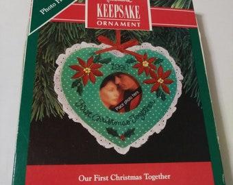 Hallmark Our First Christmas Ornament.Vintage Our First Christmas Ornament Etsy
