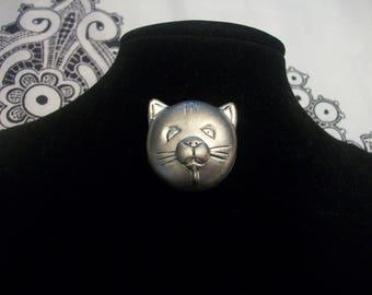 Vintage Cat Head Pin/Brooch
