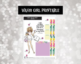 Carrie in the City | Washi Girls | Planner Stickers |  | Fashion Doll | Printable | Digital | Downloads