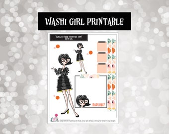 Incredible Fashion Diva | Washi Girls | Planner Stickers |  | Fashion Doll | Printable | Digital | Downloads