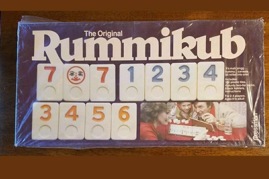 Vintage Pressman Rummikub Original Rummy Tile Game Sealed Box