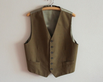 steampunk-Victorian-Edwardian Brown//Tan Mens Fancy Dress Waistcoat ALL XL SIZES