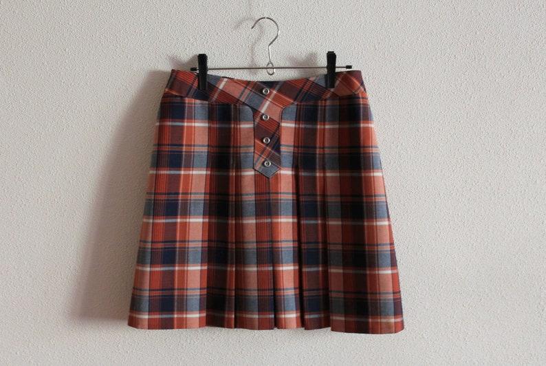 9e1dd8db19cb Vintage Skirt Wool Blend Skirt Tartan Plaid Skirt Plaid Mini   Etsy