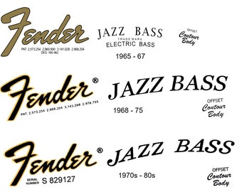 Three Jazz Bass Headstock Decals