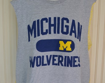 Michigan Wolverines Crochet Mesh Back Tailgate Tee