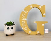 20cm Personalised Engraved wooden Letter, Initial, name, wooden letters, wooden letters for nursery decor, childrens bedroom decor